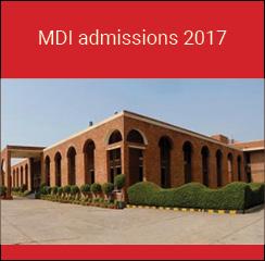 MDI Gurgaon PGP admissions 2017