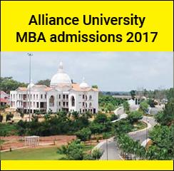 Alliance University MBA admissions 2017