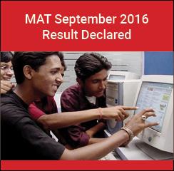 MAT September 2016 result declared on September 15
