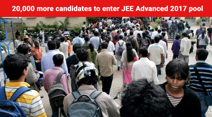 20,000 more candidates to enter JEE Advanced 2017 pool