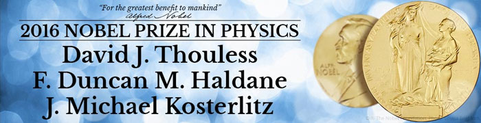 Nobel Prize in Physics 2016 awarded to three US-based professors