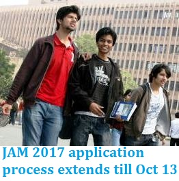 JAM 2017: Application process extends till October 13