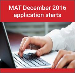 MAT December 2016 application starts from October 6