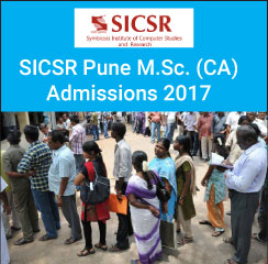 SICSR M.Sc. (CA) Admission 2017 Notification