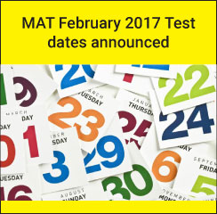 MAT February 2017 announced; test on February 5 and 10
