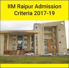 IIM Raipur PGP Admission Criteria 2017; 32% weightage to CAT scores