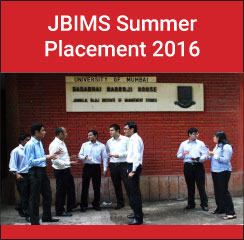 JBIMS Summer Placement 2016: average stipend increases by 11%