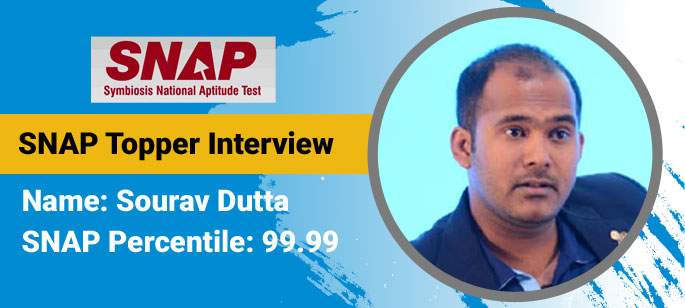 Writing on social platforms helped me in General English section, says Sourav Dutta, SNAP Topper