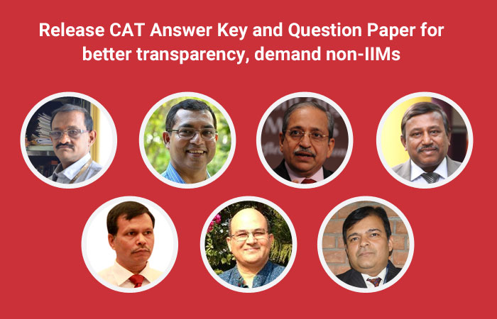 Release CAT Answer Key and Question Paper for more transparency, demand non-IIMs