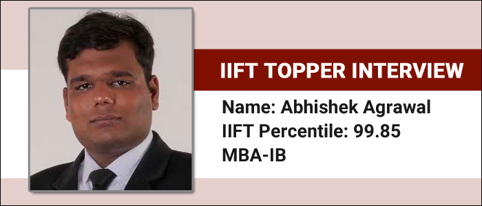 IIFT Topper Interview: Divide the time equally among sections, says Abhishek Agrawal, 99.85 percentile