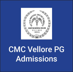 CMC Vellore PG Admissions 2017