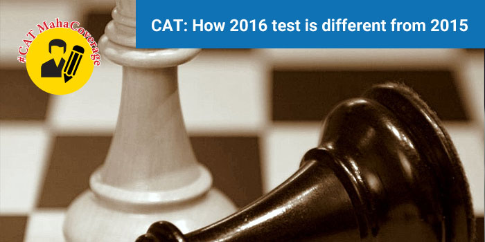 How is CAT 2016 different from 2015