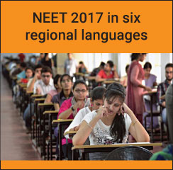 NEET 2017 in six regional languages