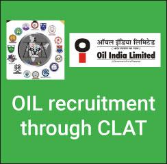 OIL recruitment through CLAT 2017