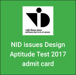 NID DAT 2017 admit card issued on December 20