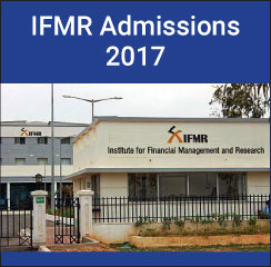 IFMR Chennai announces PGDM admissions 2017