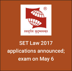 SET Law 2017: Applications announced; exam on May 6