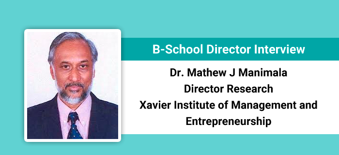 B-School Director Interview: XIME Kochi witnesses rise in number of applications, says Dr. Mathew J Manimala, Director Research, XIME Bangalore