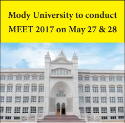 Mody University to conduct MEET 2017 on May 27 & 28