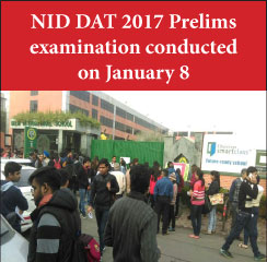 NID DAT 2017 Prelims examination conducted on January 8