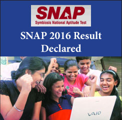 SNAP 2016 result declared on January 9