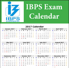 IBPS 2017 Exam Calender announced