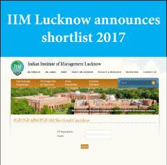 IIM Lucknow announces WAT-PI shortlist 2017