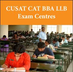 CUSAT CAT BBA LLB Exam Centres 2017