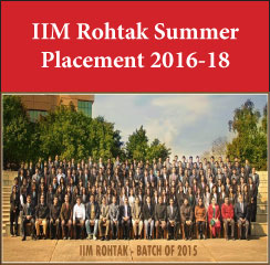 IIM Rohtak Summer Placement 2016: Marketing emerges as top profile