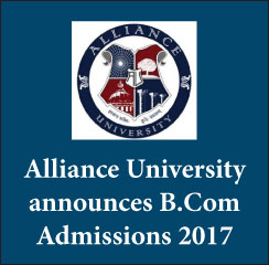 Alliance University announces B.Com Admission 2017