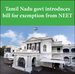 Tamil Nadu govt introduces bill for exemption from NEET
