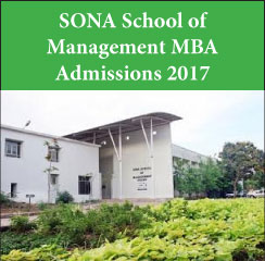SONA School of Management announces MBA admissions 2017