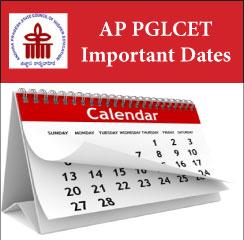 AP PGLCET Important Dates 2017