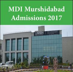 MDI Murshidabad announces PGPM admissions 2017