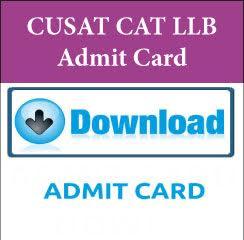 CUSAT CAT LLB Admit Card 2017