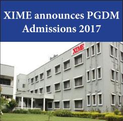 XIME announces PGDM admissions 2017