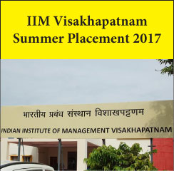 IIM Visakhapatnam Summer Placement 2017 – Marketing, Strategy and General Management highest recruiting sectors