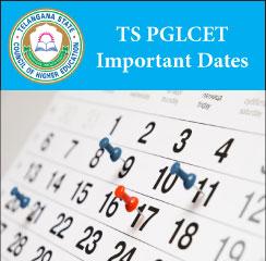 TS PGLCET Important Dates 2017