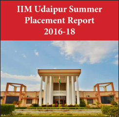 IIM Udaipur Summer Placement Report 2016-18: Sales and Marketing highest recruiting function