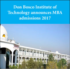 Don Bosco Institute of Technology announces MBA admissions 2017-19
