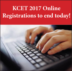 KCET 2017 Online Registrations to end today!