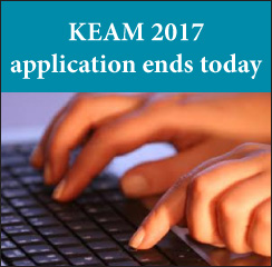 KEAM 2017 application ends today