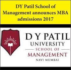 DY Patil School of Management announces MBA admissions 2017