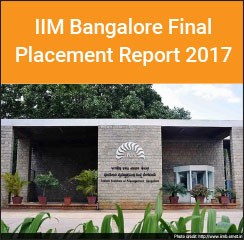 IIM Bangalore Final Placement Report 2017 - BFSI and Consulting highest recruiting sectors