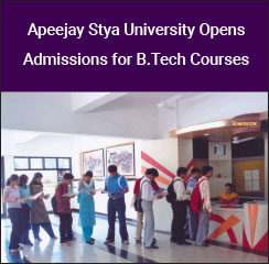 Apeejay Stya University Opens Admissions for B.Tech Courses