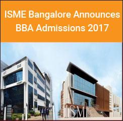 ISME Bangalore Announces BBA Admissions 2017
