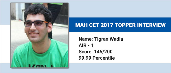 MAH CET 2017 Topper Interview - Find out faster ways to solve a question to manage time, says Tigran Wadia, AI