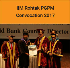 IIM Rohtak Conducts PGPM Convocation 2017