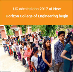 UG admissions 2017 at New Horizon College of Engineering begin