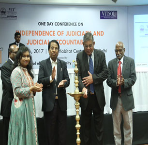 VIT University School of Law organises conference on Independence of Judiciary and Judicial Accountability